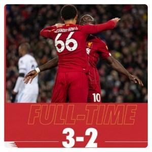 Liverpool vs West Ham 3-2 Highlights