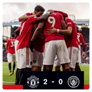 Manchester United vs Manchester City 2-0 Highlights