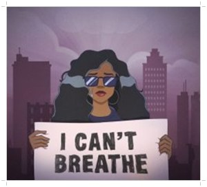 H.E.R. show placard in new song titled I Can't Breathe for protect