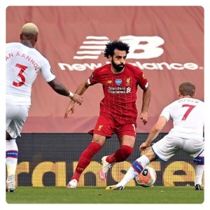 Mohammed Salah in action in Liverpool vs Crystal Palace match