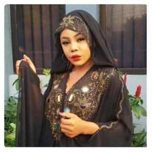 Bbnaija ex housemate, Ifu Ennada on black abaya dress