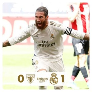 Sergio Ramos scored again on Athletic Bilbao vs Real Madrid match