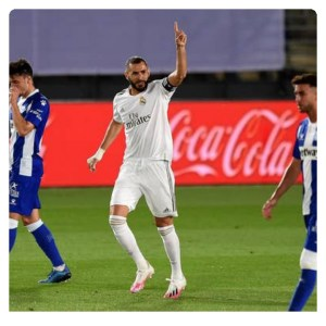 Benzema scored first goal with penalty in Real Madrid vs Alaves