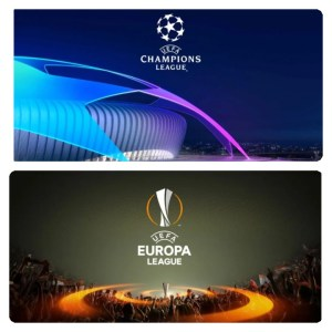UEFA champions league and Europa League logo