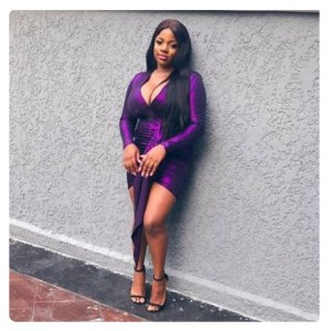 BBNaija lockdown housemate, Dorothy wear high heels and rest on the wall