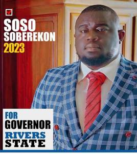 Music Executive, Soso Soberekon Joins 2023 Rivers State Governorship Race