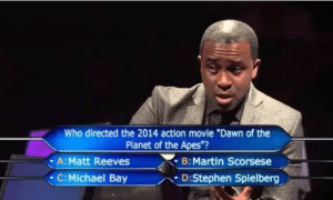 On set of Who wants to be a millionaire