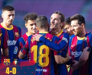 Barcelona vs Osasuna 4-0 Highlights Download