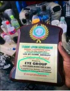 Offa Poly SUG Gives Merit Awards To Eye group