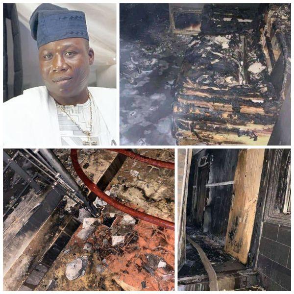 Sunday Igboho's House Set On Fire (Photos + Video)