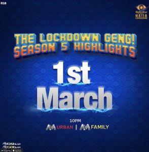 BBNaija Organizer Announced Date For Season 5 (Lockdown) Highlights & Reunion Show (Video)