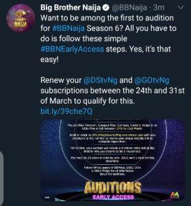 Big brother Naija 2021 auditions