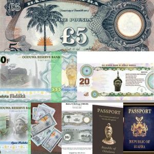 Biafra And Oduduwa Currency, Passport Hits The Internet (Photos)