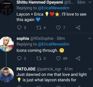 Erica and laycon