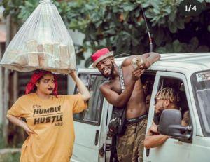 Broda Shaggi as bus conductor and nengi as Bread seller on comedy video
