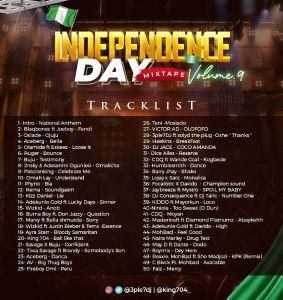 3ple7DJ x Hypeman King704 - Independence Day Mixtape vol. 9 Tracklist