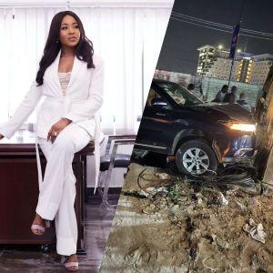BBNaija: Erica Nlewedim Survives Ghastly Car Accident (Photos)