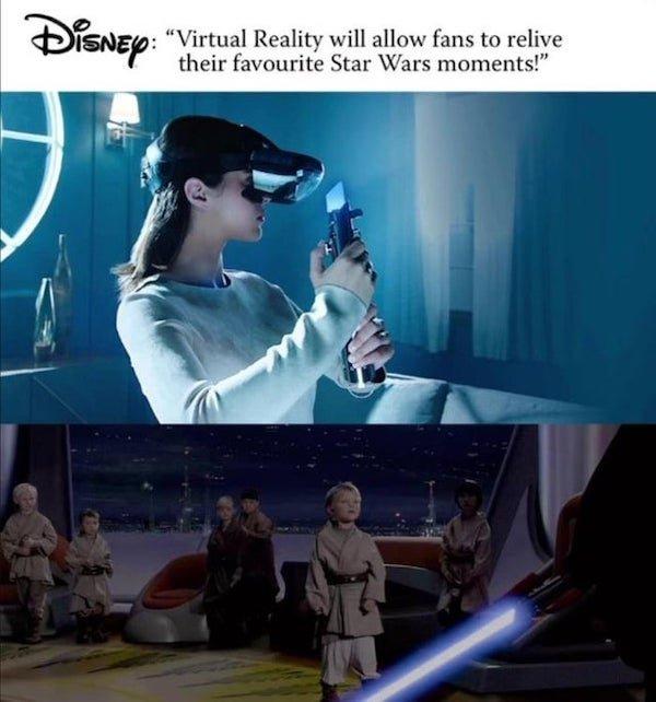 «La realidad virtual permitirá a los fans de Star Wars revivir sus momentos favoritos».