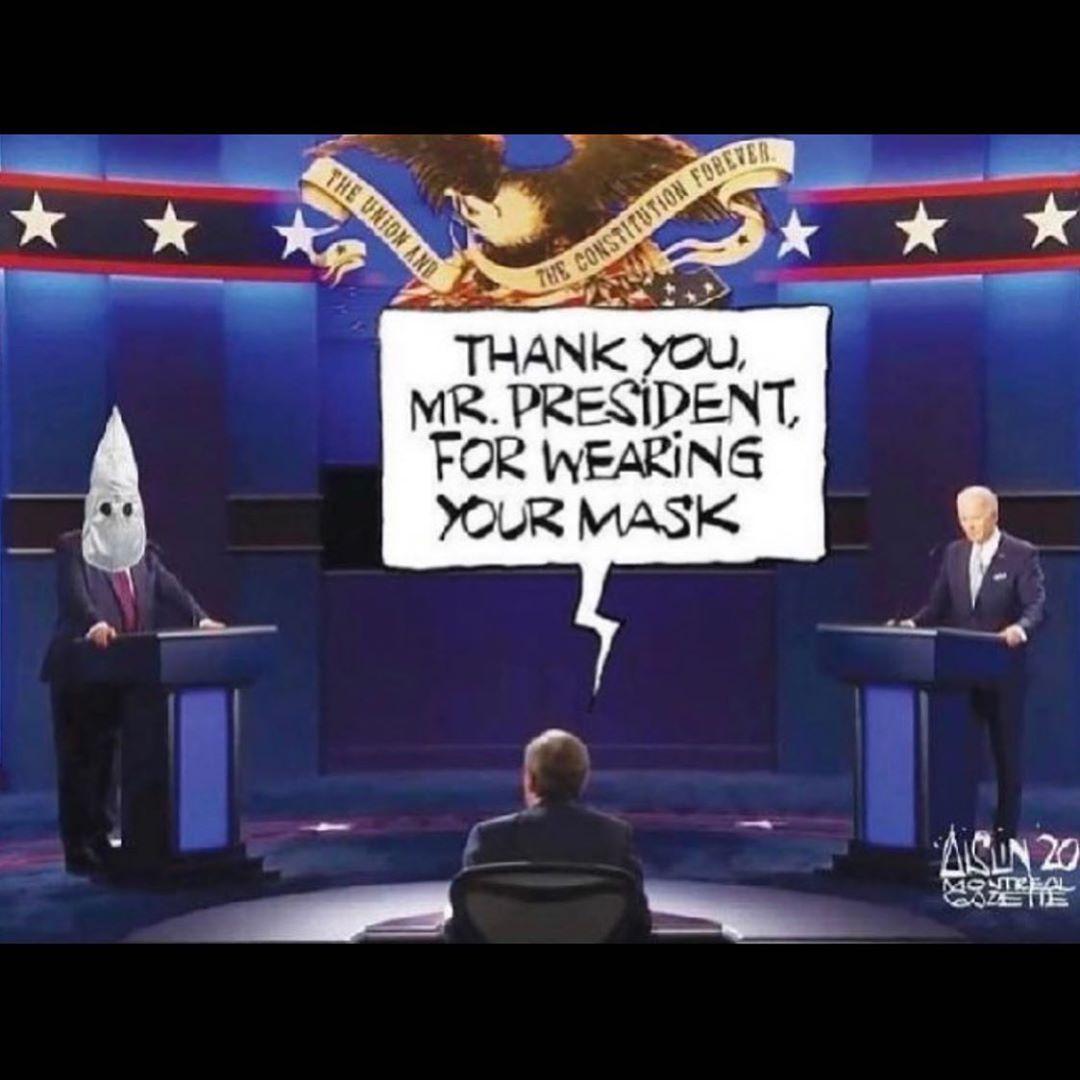 La única máscara que se pondría.