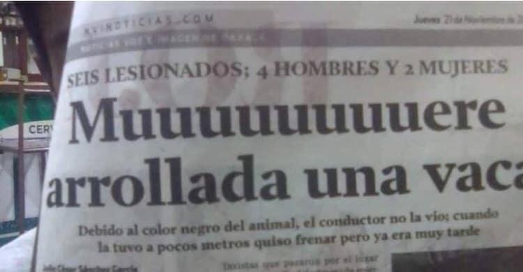 Un titular de Pulitzer.