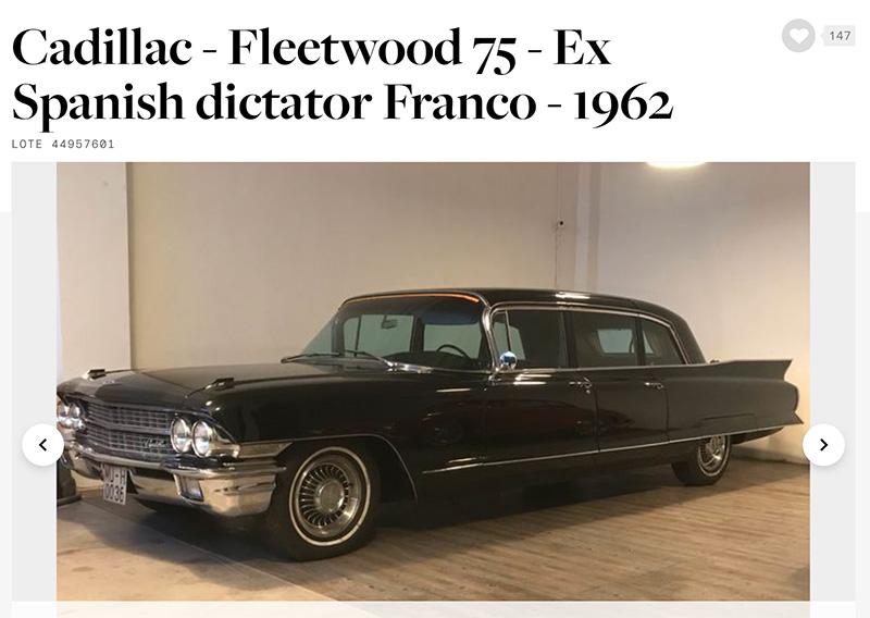 Subastan el coche de Franco.