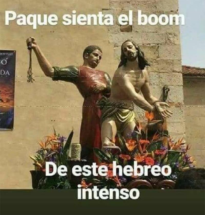 Es Viernes Santo y Yisus lo sabe.