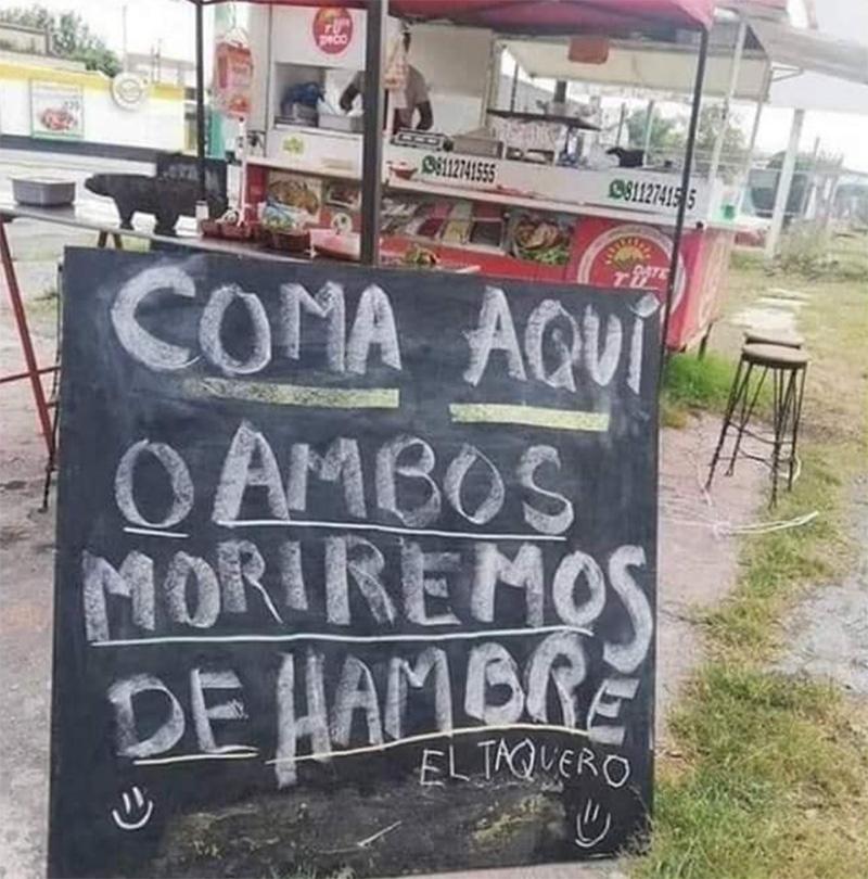 Marketing del bueno.