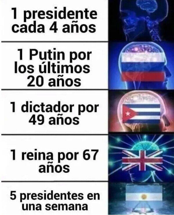 La auténtica democracia es la argentina.