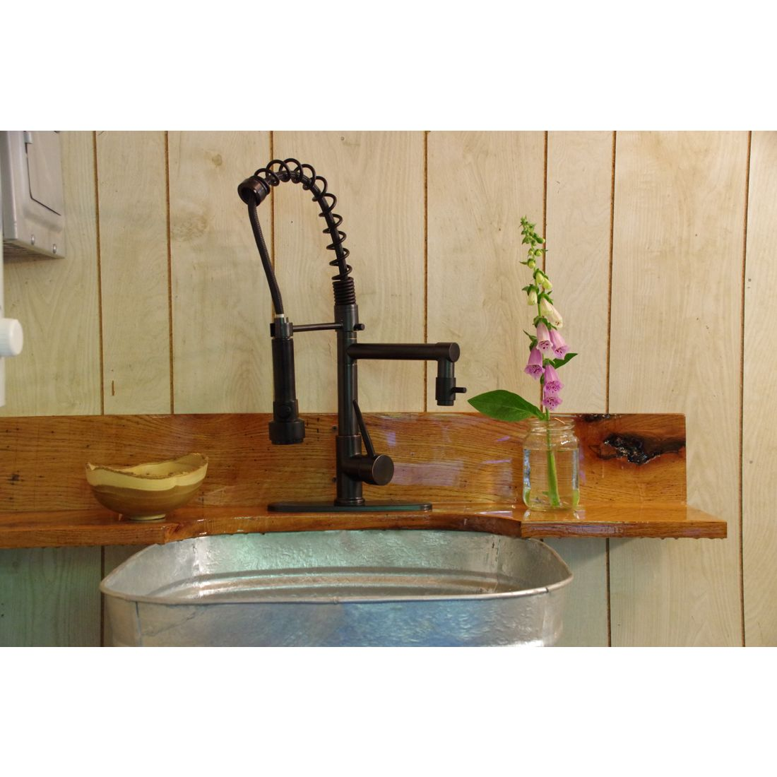 spring pull down sprayer kitchen faucet small