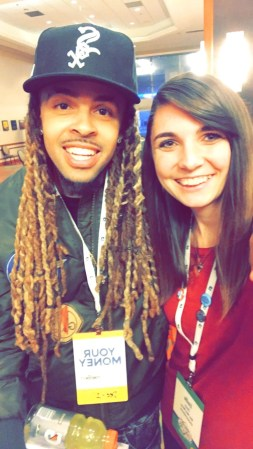 I met rapper Dee-1 at FinCon!!! Check him out, he is amazing.