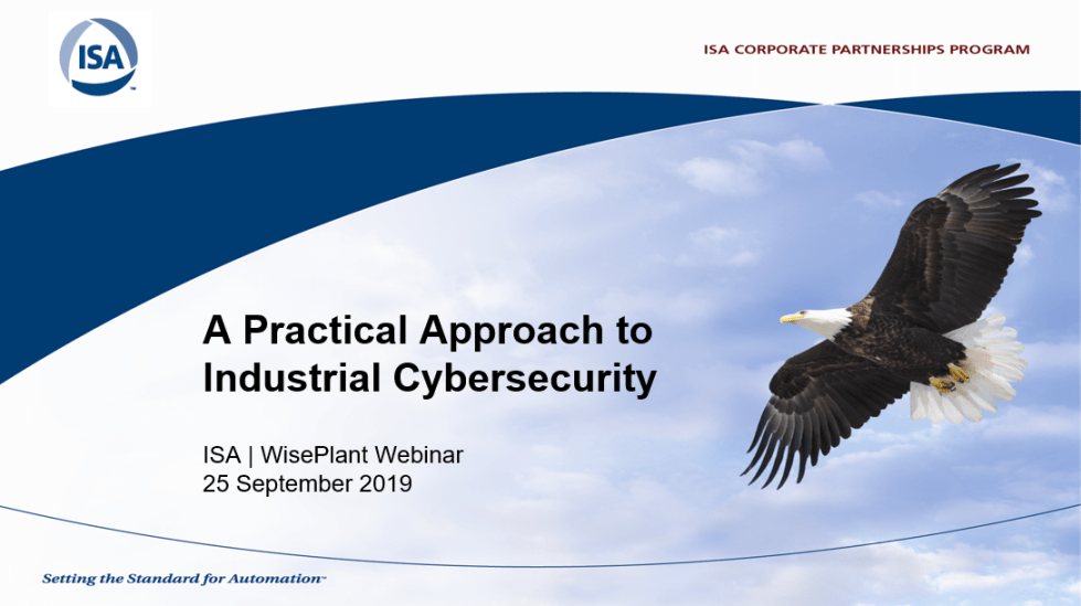 International Webinar Organized by ISA and WisePlant