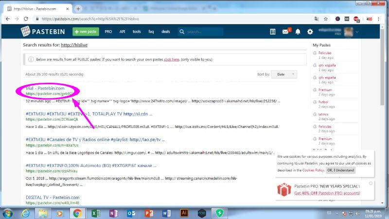 Wiseplay listas Pastebin Premium