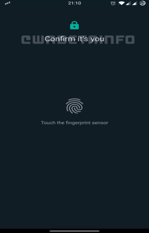 WhatsApp Web, fingerprint