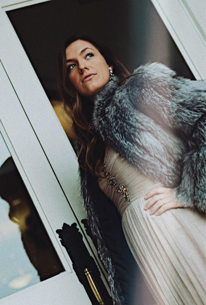 fur coat vintage glam