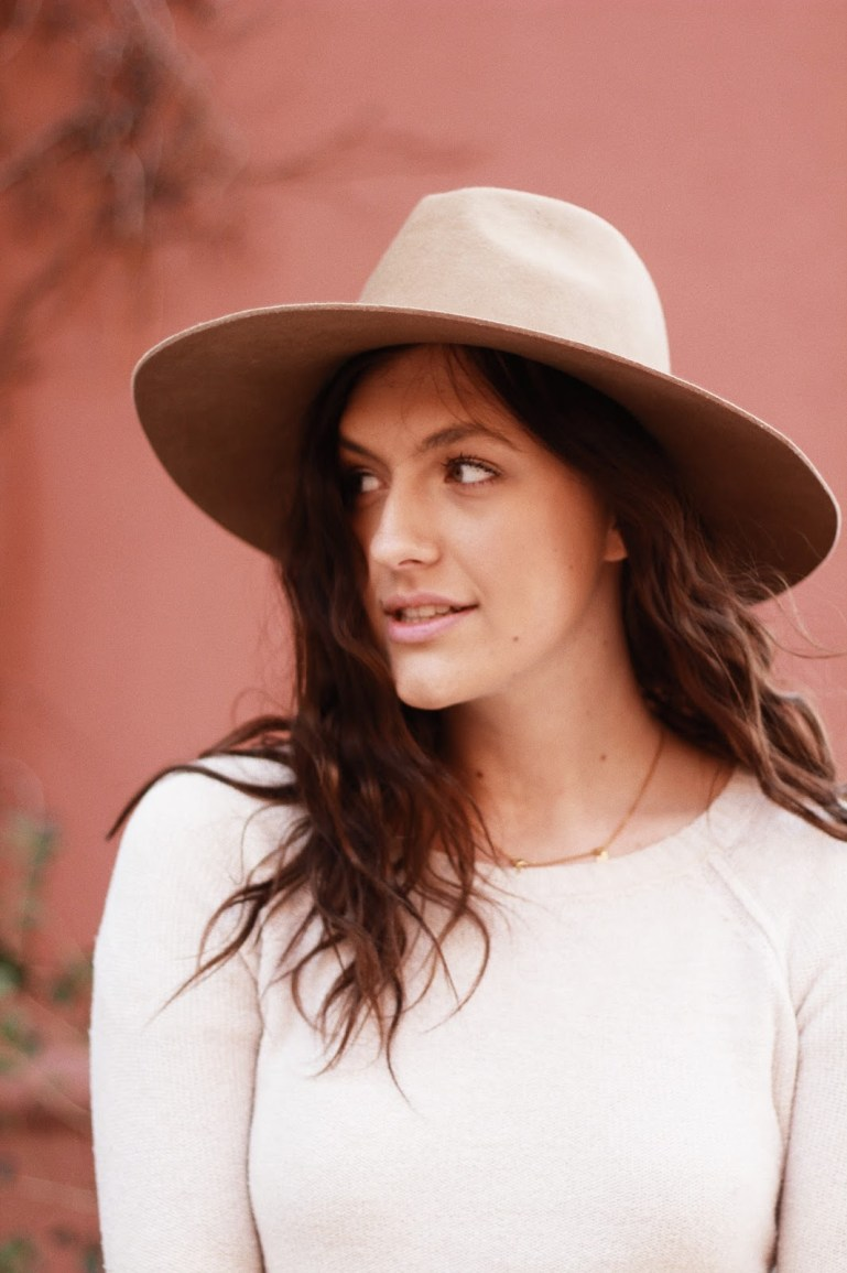 transition to spring girl in hat boho