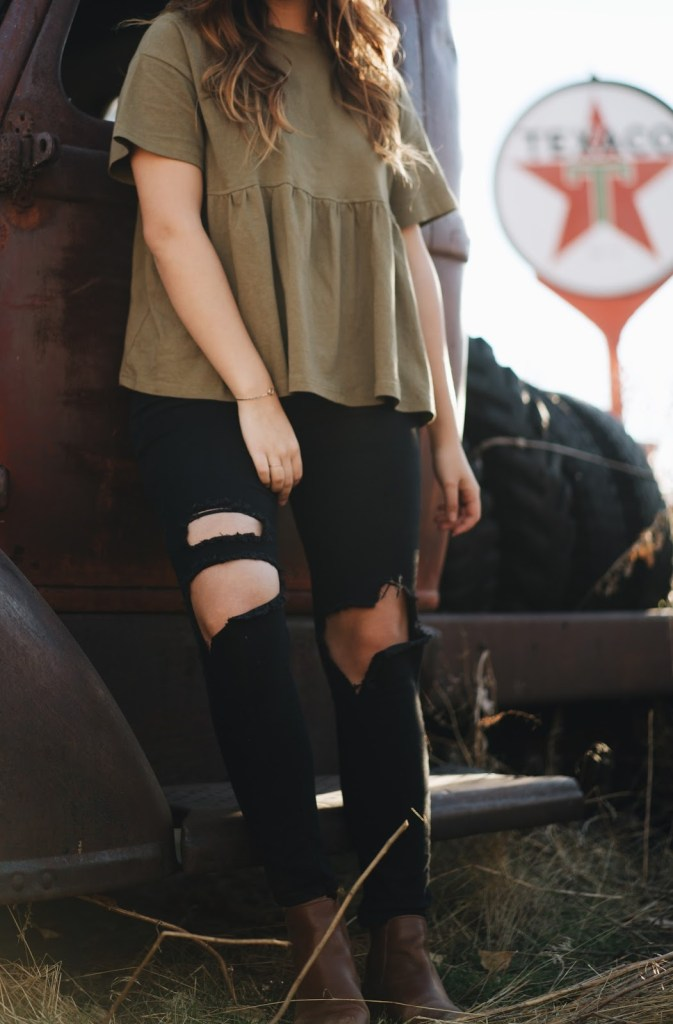 comfy cute grunge fall outfit romwe