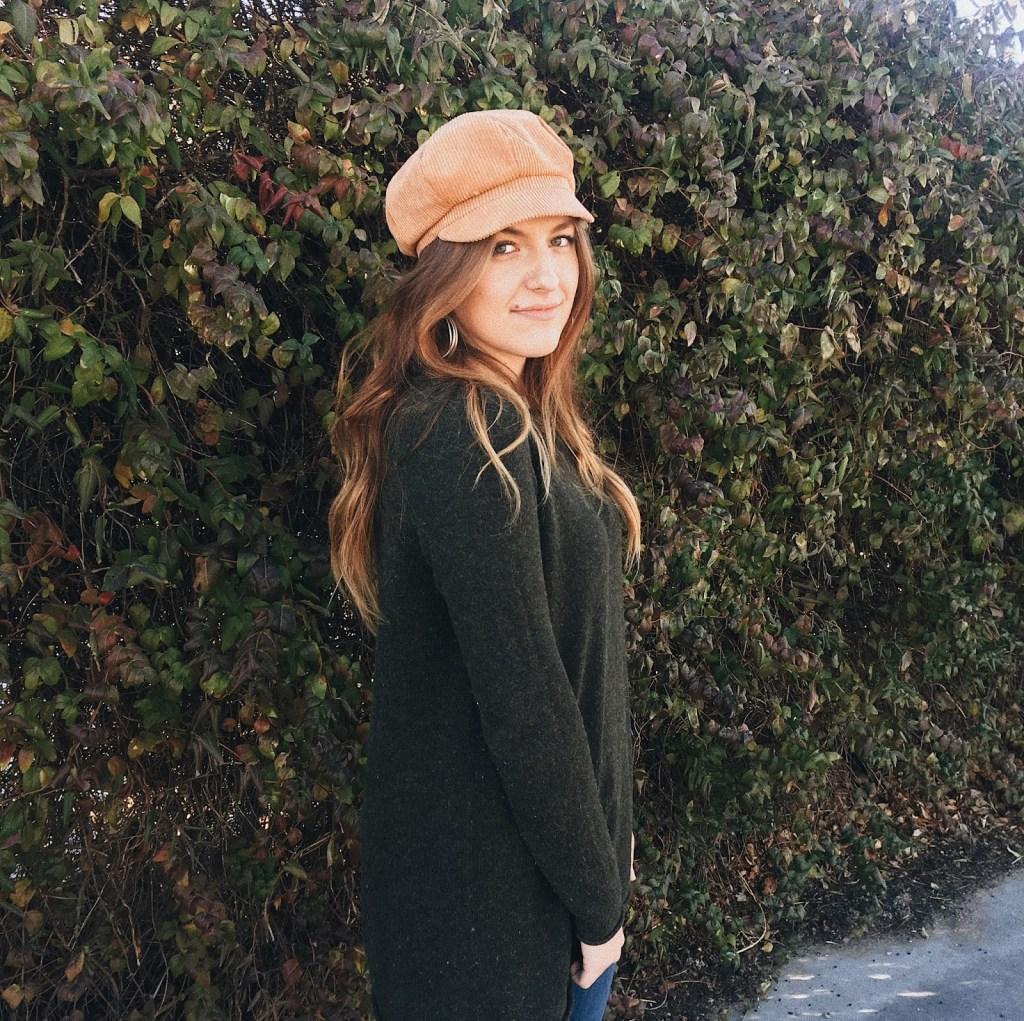 winter style 2018 corduroy hat