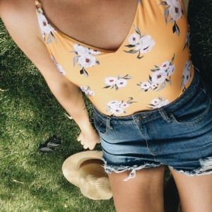 content creation topshop yellow floral one piece