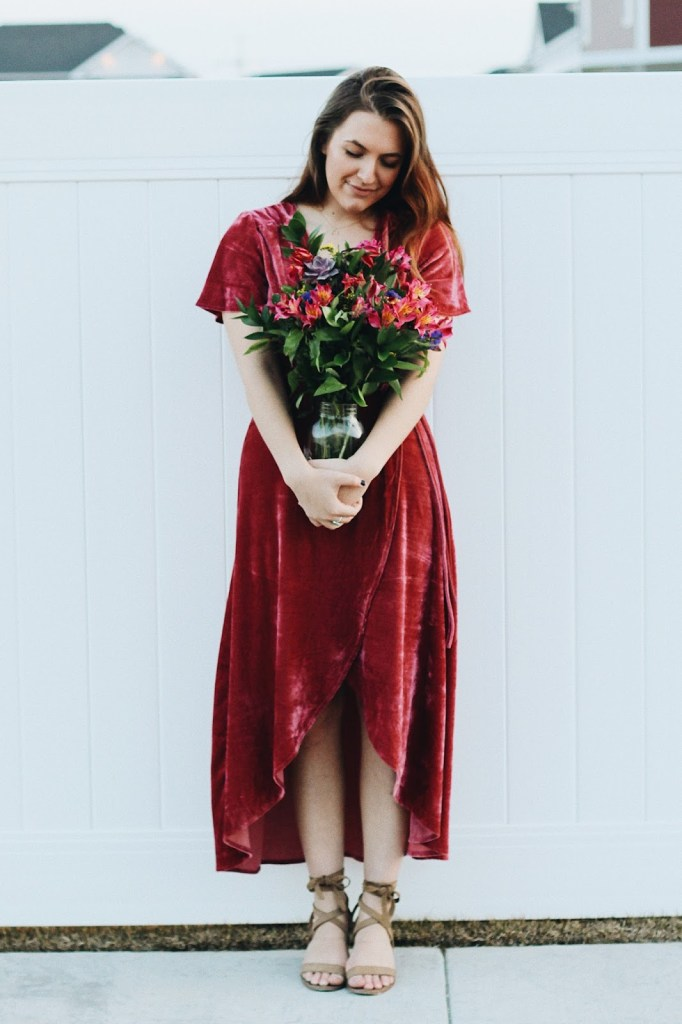 wear for valentine's day pink wrap dress nasty gal