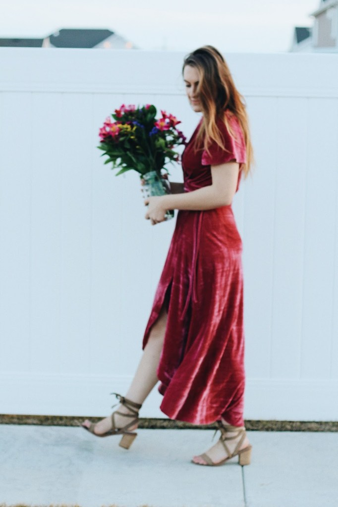 wear for valentine's day date outfit pink wrap dress