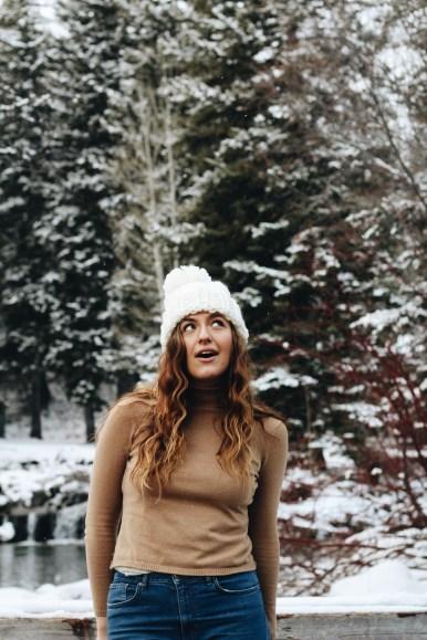 overcome social anxiety snow sundance girl portrait
