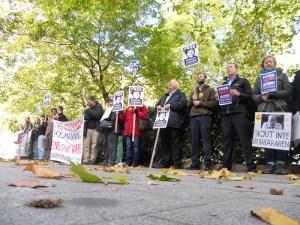 Vigil for Bradley Manning at US embassy
