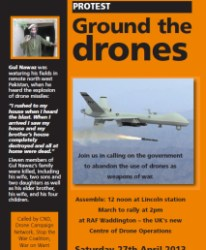 DRONES RAF WADDINGTON FLYER 27th April 2013 wadd_demo_leaf
