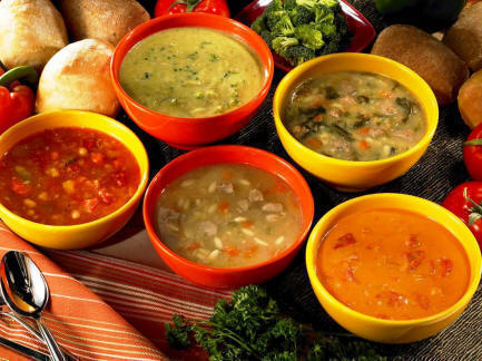 Five bowls of soup to help soothe Vata.