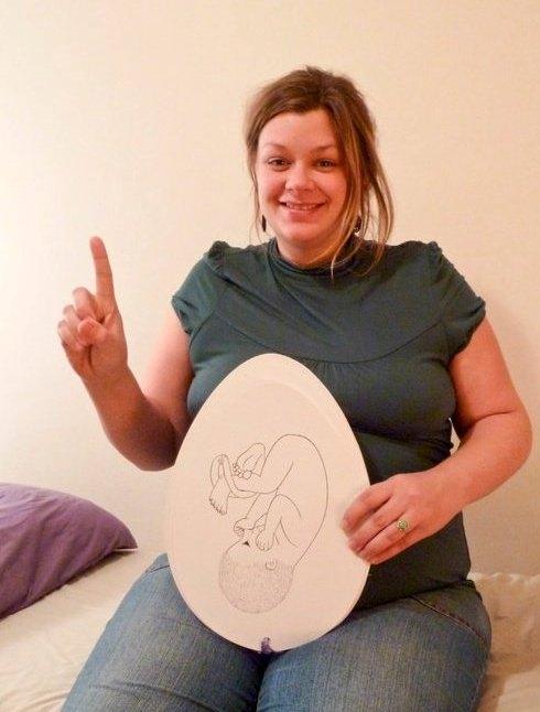 The original Baby Egg Pregnancy Countdown Calendar