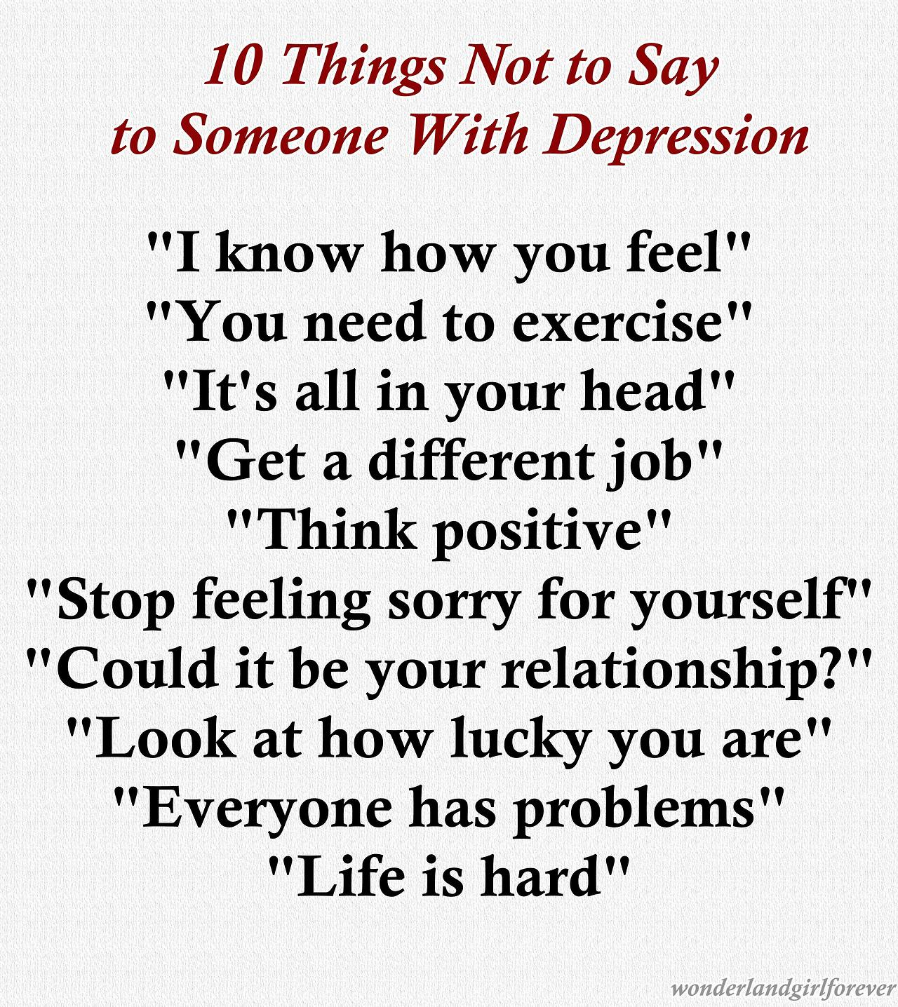 what to say to someone dealing with depression