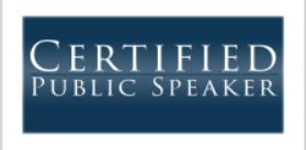 certified public speaker logo