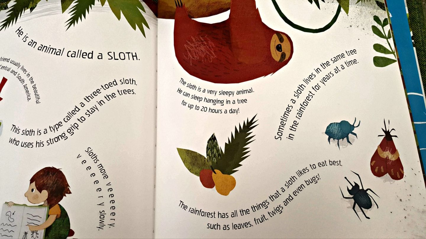 Written facts about sloths