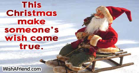 This Christmas make someone's life better., Christmas Thoughts
