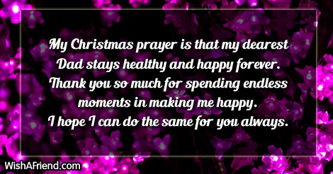 My Christmas Prayer Is That My Christmas Messages For Dad